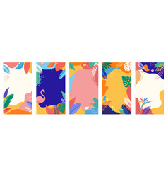 Collection abstract background designs summer vector