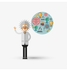 Colorful einstein design over white background vector image