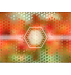 Colorful hexagonal background vector image