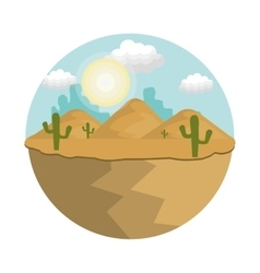 Desert natural landscape vector