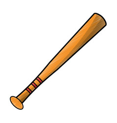 drawing bat baseball equipment vector image