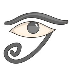 Egypt god Ra symbol icon cartoon style vector image