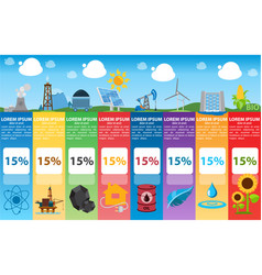 energetics infographics industry alternative vector image