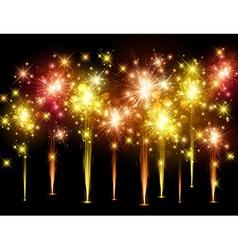 Festive colourful firework background vector
