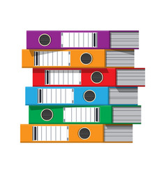 Files ring binders colorful office folders vector