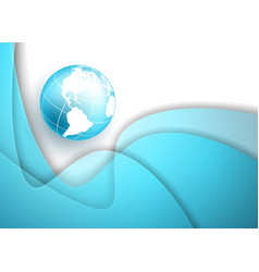 frame with globe vector image