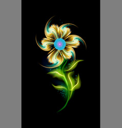 glowing modern yellow flower pattern colorful vector image