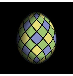 Greeting card - colored Easter egg vector