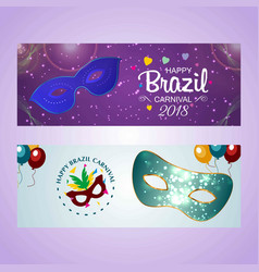 happy brazilian carnival day purple and light vector image