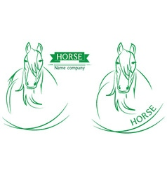 Horse head design on a white background vector