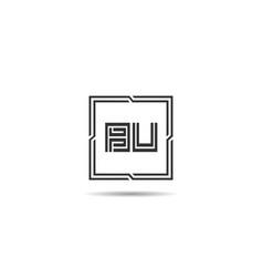 initial letter bu logo template design vector image