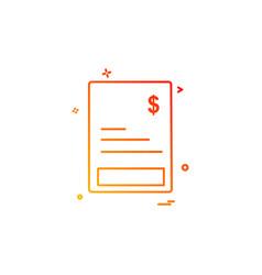 invoice icon design vector image
