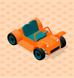 Isometric retro car model sport utility vehicle vector
