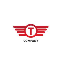 Letter t initial abjad logo design template vector