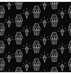 Linear diamond seamless pattern wrap vector image