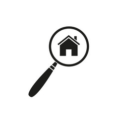 lupe at home icon vector image