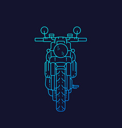 motorcycle retro motorbike linear art vector image
