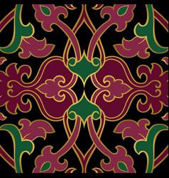 Oriental dark ornament vector