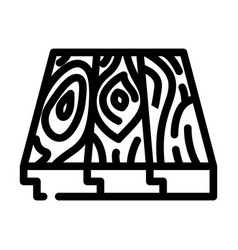 Patterned flooring line icon vector