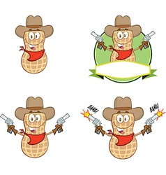 Peanut cartoon vector