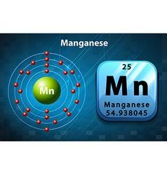 Periodic symbol and diagram of manganese vector