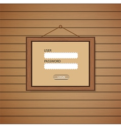 Picture frame Web login form template vector image