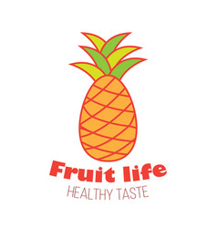 Pineapple fruit logo design vector
