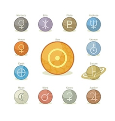 Planetary Icons vector image vector image
