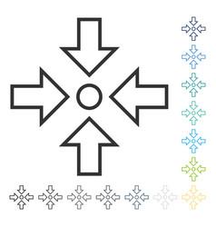 Pressure center icon vector