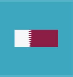 qatar flag icon in flat design vector image