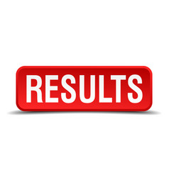 Results red 3d square button isolated on white vector