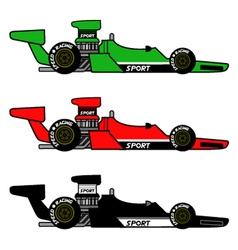 Retro racing car vector