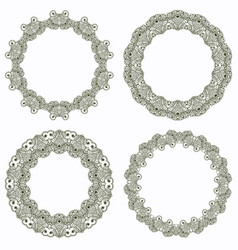 set of lace frame vector image