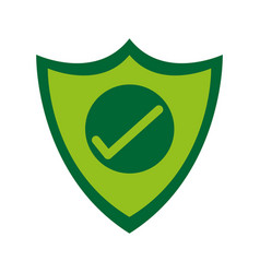 shield with check mark antivirus icon image vector image