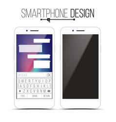 smartphone mockup design white modern vector image