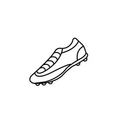soccer boots label - black vector image
