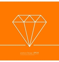 Stock Linear icon diamond vector image