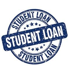 student loan blue grunge round vintage rubber vector image