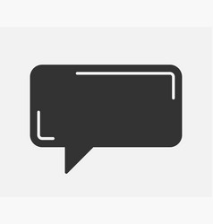 Talk bubble speech icon blank empty bubbles vector