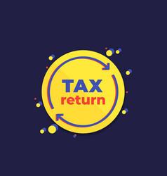Tax return icon design vector