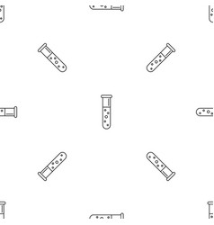 test tube pattern seamless vector image