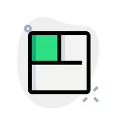 Three square shape slidebar grid split sections vector