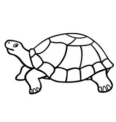 turtle contour icon vector image