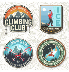 Vintage typography design with climber carabiner vector