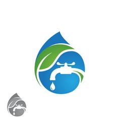 water plumbing logo concept design vector image