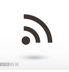 wifi flat icon sign internet connection vector image