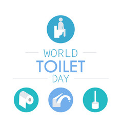 World toilet day vector