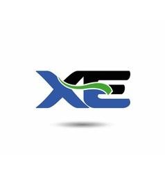 XE logo vector image