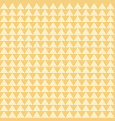 Yellow triangle shape repeating seamless pattern vector