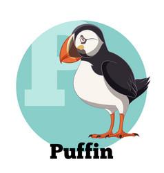 abc cartoon puffin vector image